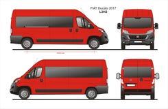Fiat Ducato Passenger Van 2017 L3H2 Blueprint. Fiat Ducato Passenger Van 2017 L3H2 Scale 1:10 detailed template in AI Format Royalty Free Stock Photography