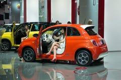 Fiat 500e Royalty-vrije Stock Foto's