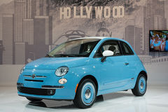 Fiat 500 1957 Edition car on display at the LA Auto Show. Royalty Free Stock Photos