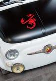 Fiat 500 embleem abarth schorpioen Stock Afbeelding