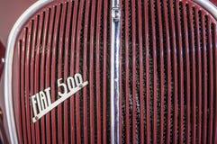1936 Fiat-Embleemmerk buiten auto Stock Foto