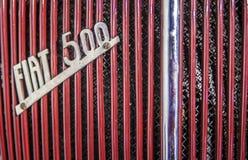 1936 Fiat-Embleemmerk buiten auto Stock Foto's