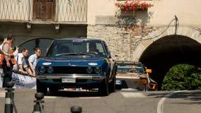 Fiat 132 en Bérgamo Grand Prix histórico 2017 Imagenes de archivo