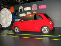 Fiat 500 exhibited at the National Museum of Cars. Stock Photos
