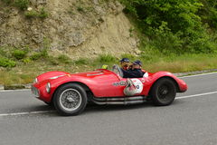 Fiat Florida car running in Mille Miglia race stock images