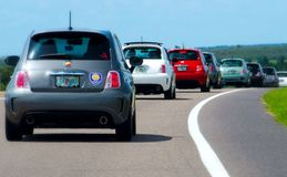 Fiat. Florida Fiat Road Ralley Royalty Free Stock Photography