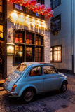 Fiat 500 in front of a restaurant in Cologne Stock Images