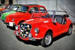 Fiat 500 Gamine Vignalen Gamine är en liten med motorn bak bil som baseras på Fiat 500 Royaltyfria Foton