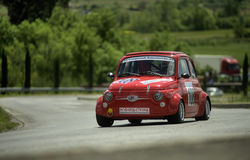 Fiat 500 Giannini. A Fiat 500 Giannini attends the 27th edition of Camucia Cortona, a competition race of hill-climb for hystorical cars valid for CSAI italian Stock Photography