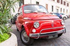 Fiat 500 i Rome, Italien Royaltyfria Foton