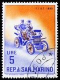Fiat 1899, klassisches Automobile serie, circa 1962 stockbilder