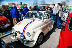 Fiat 500 klasyka samochodu wiec Zdjęcia Royalty Free