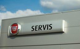 Fiat logo - servis Stock Image