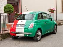 Fiat Maggiore in den italienischen Markierungsfahnenfarben Lizenzfreies Stockfoto