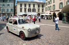 FIAT 1100 at Mille Miglia 2015 Stock Photo