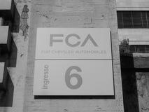 Fiat Mirafiori Chrysler Automobiles (FCA) car factory in Turin i. TURIN, ITALY - CIRCA SEPTEMBER 2018: Fiat Chrysler Automobiles (FCA) Mirafiori car factory for stock photo