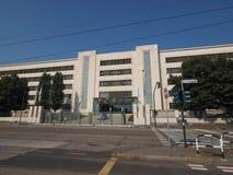 Fiat Mirafiori Chrysler Automobiles (FCA) car factory in Turin. TURIN, ITALY - CIRCA SEPTEMBER 2018: Fiat Chrysler Automobiles (FCA) Mirafiori car factory for stock images