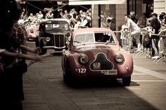 Fiat 1100 MM Berlinetta przy Mille Miglia 2016 Fotografia Stock