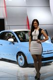 Fiat and model at the Auto Show Stock Images