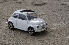 Fiat 500. Model of Fiat 500 (classic) on concrete Stock Photos