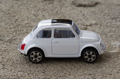 Fiat 500. A model of Fiat 500 (classic, toy Stock Images