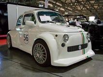 Fiat 500 monstre in Milaan Autoclassica 2014 stock afbeeldingen