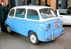 Fiat 600 Multipla. BERLIN, GERMANY - AUGUST 12, 2014: Italian retro car Fiat 600 Multipla in the museum of vintage cars Classic Remise stock photos