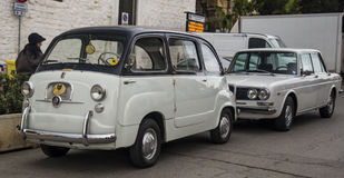 Fiat 600 multipla vintage Royalty Free Stock Images