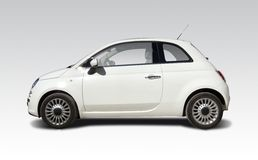 Fiat 500 new. New Fiat 500 car isolated on white Royalty Free Stock Photo
