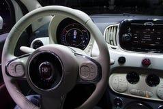 Fiat 500 nos carros de IAA Imagem de Stock Royalty Free