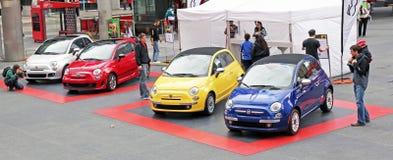Fiat novo 500 Fotos de Stock Royalty Free