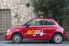 Fiat novo 500 aprecia marcado fotografia de stock royalty free