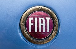 Fiat old logo Royalty Free Stock Photography