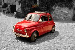 Fiat 500 old style BW Royalty Free Stock Photography