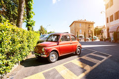 Fiat in the old toscan town Stock Image