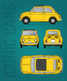 Fiat 500 oldtimer vectorbeeld Stock Foto