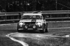 FIAT 131 oude de raceautoverzameling van ABARTH 1977 Royalty-vrije Stock Afbeeldingen