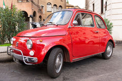 Fiat 500 parked in Rome Stock Photo