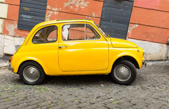 Fiat 500 parked in Rome Stock Image