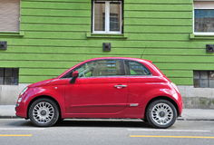 Fiat 500 parked in the street Stock Photos