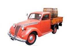 Fiat Pickup with Barrels. A Vintage Italian Fiat Pickup with Barrels Stock Photos