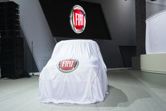 Fiat  press conference to debut car Stock Photos