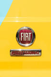 Fiat Professional sign on the yellow delivery van Royalty Free Stock Image