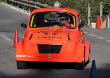 Fiat 500 prototype during an uphill race Stock Photography