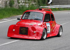 Fiat 500 prototype during an uphill race Stock Photo