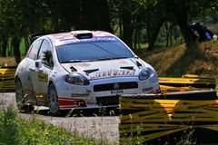 Fiat Punto S2000 Maxi. Rally IRC Barum Rally 2009 Royalty Free Stock Photography