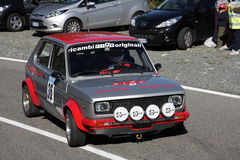 Fiat 127 que compete fotografia de stock royalty free