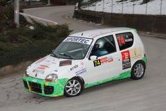 Fiat 600 racerbil Arkivbilder