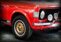 Fiat 128 rally red color Royalty Free Stock Photography