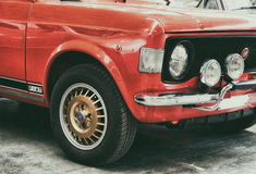 Fiat 128 rally red color Stock Photography